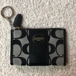 Coach Signature Mini Key Chain Wallet